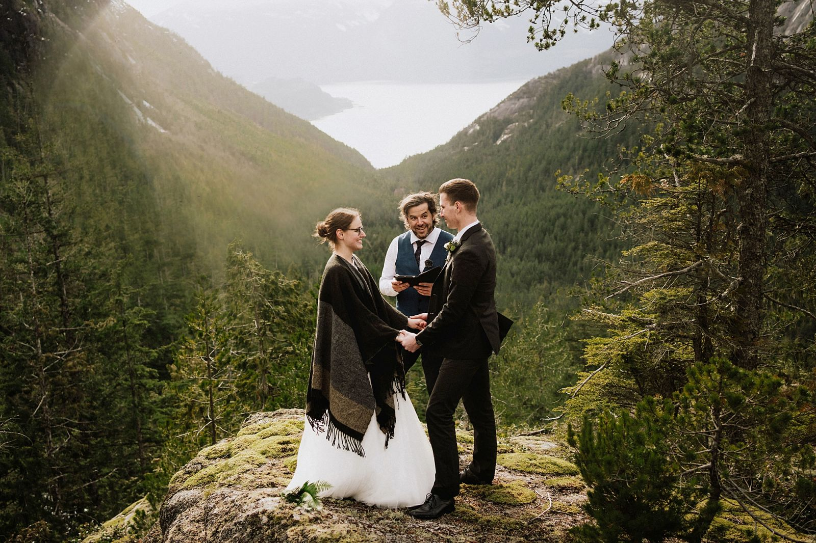 Whistler wedding officiant at elopement ceremony